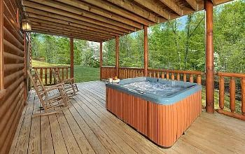 Pin By Tracie Pratt On Love Of My Life Cabin Hot Tub