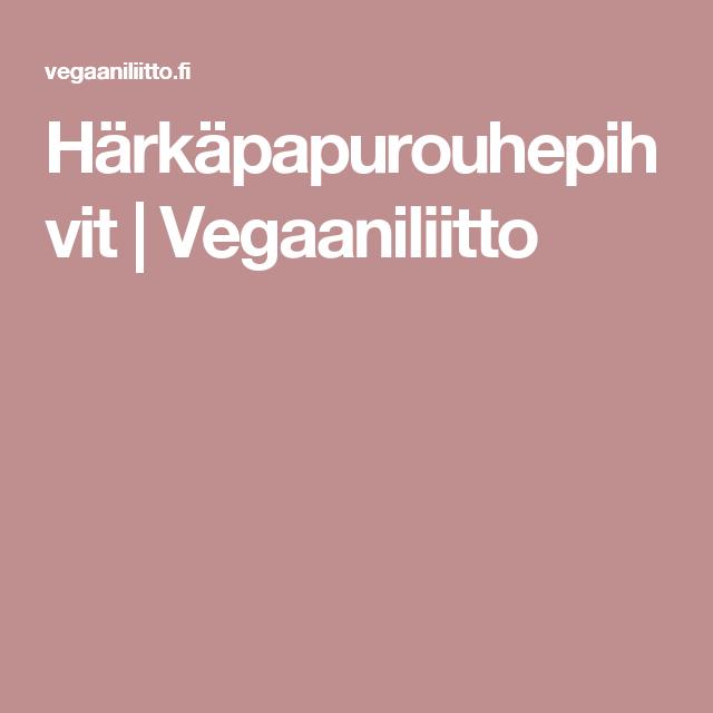 Härkäpapurouhepihvit | Vegaaniliitto