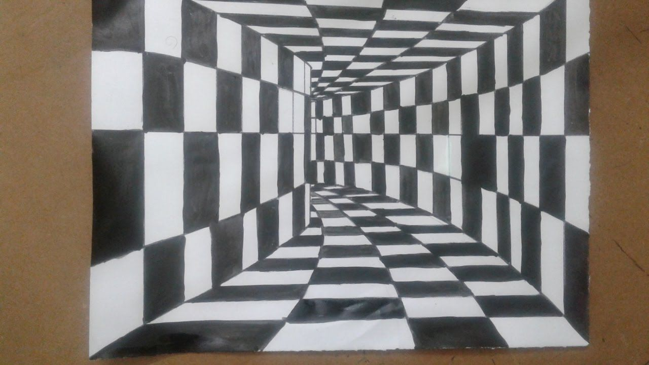 How To Draw A 3d Drawing 3d Tunnel Optical Illusion Simple And Easy 3d Drawing Tutorial Yout 3d Drawing Tutorial Optical Illusions Art Easy 3d Drawing