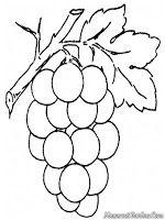 Buah Anggur Dengan Gambar Halaman Mewarnai Cetakan Bunga
