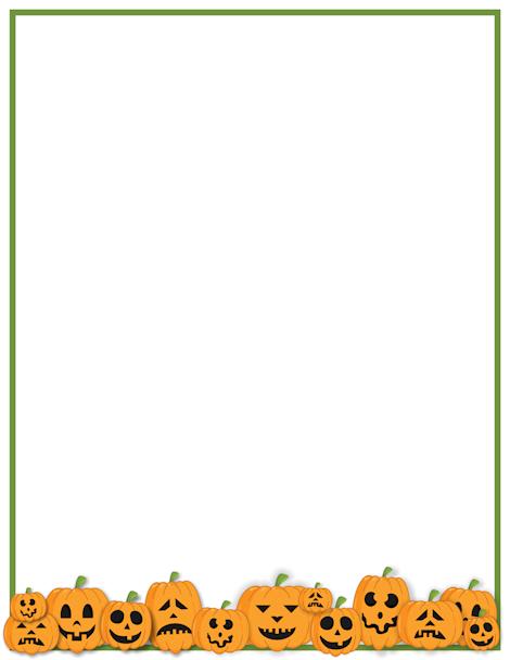 Printable Jack O Lantern Border Free Gif Jpg Pdf And Png Downloads At Http Pageborders Org Download Jack Halloween Borders Page Borders Halloween Frames