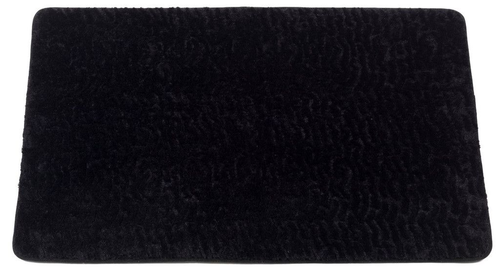 Animal Print Faux Fur Bath Mat, Black Sable | Bath mat, Rubber mat ...