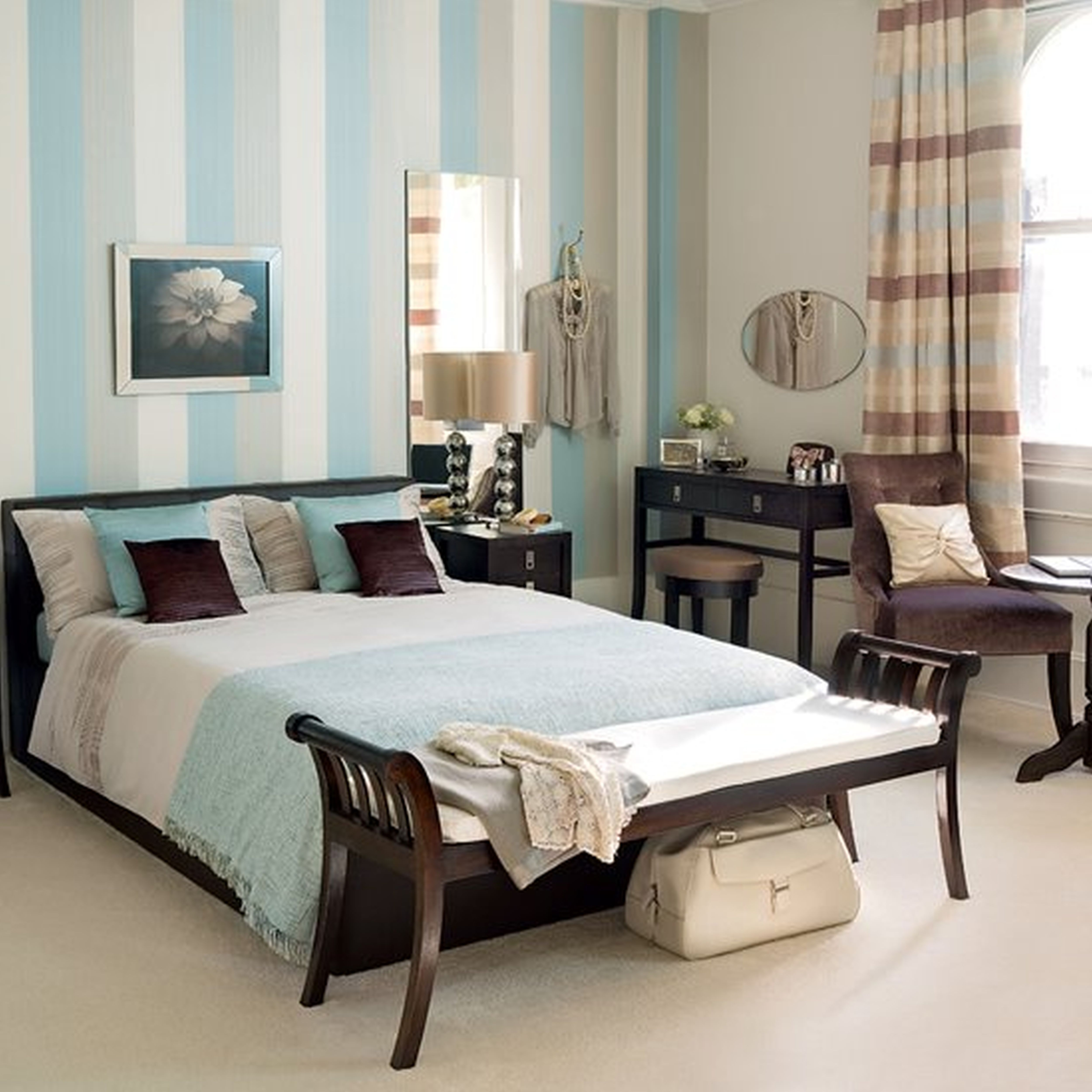 Master bedroom inspiration  Bedroom Inspiration Amazing Wooden Benches And Queen Platform Bed