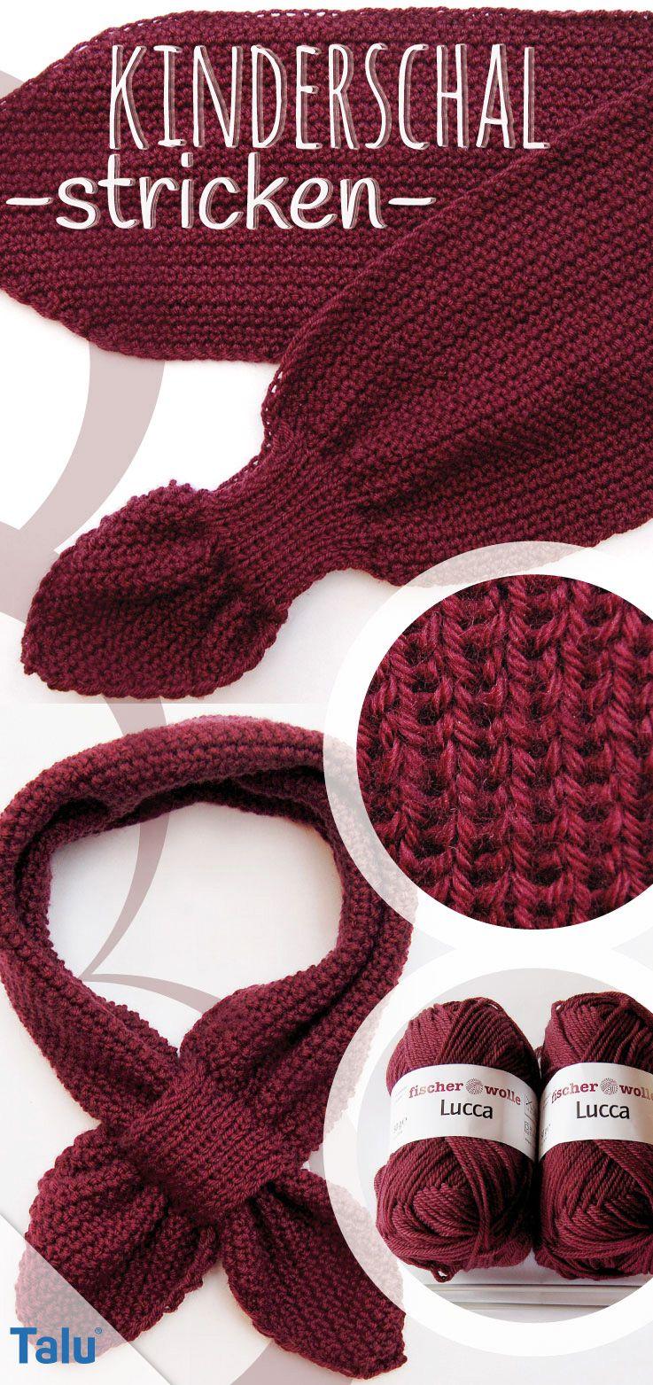 Écharpe en tricot pour enfants – instructions gratuites pour les débutants   – Schal