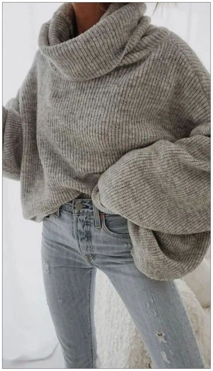 50 Trendy And Comfortable Winter Sweater Outfit Ideas You Should Copy Right Now - Page 19 of 50
