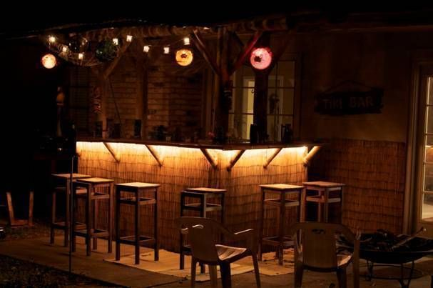 Tiki Bar At Night Lighting Idea