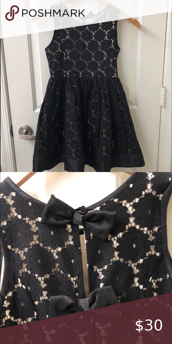 Zunie Girls' Black Lace Skater Dress
