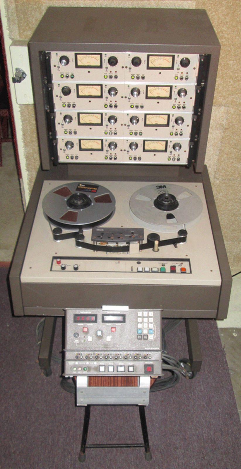 MCI JH110C ANALOG 8TRACK REELTOREEL TAPE RECORDER