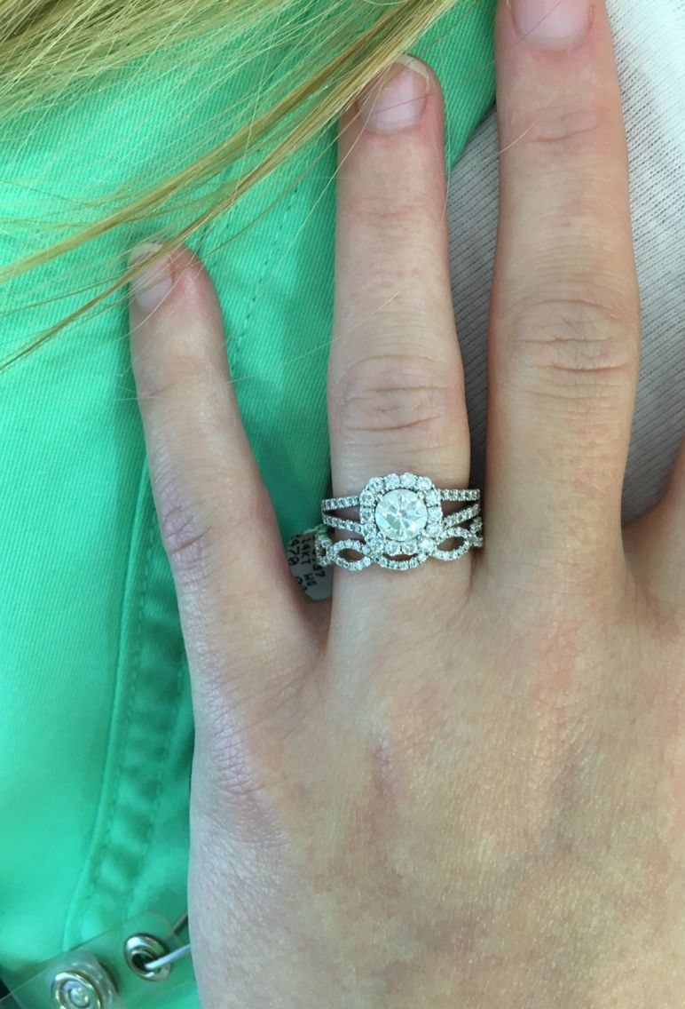 Split Shank Engagement Ring With Cushion Cut Halo And Twisted