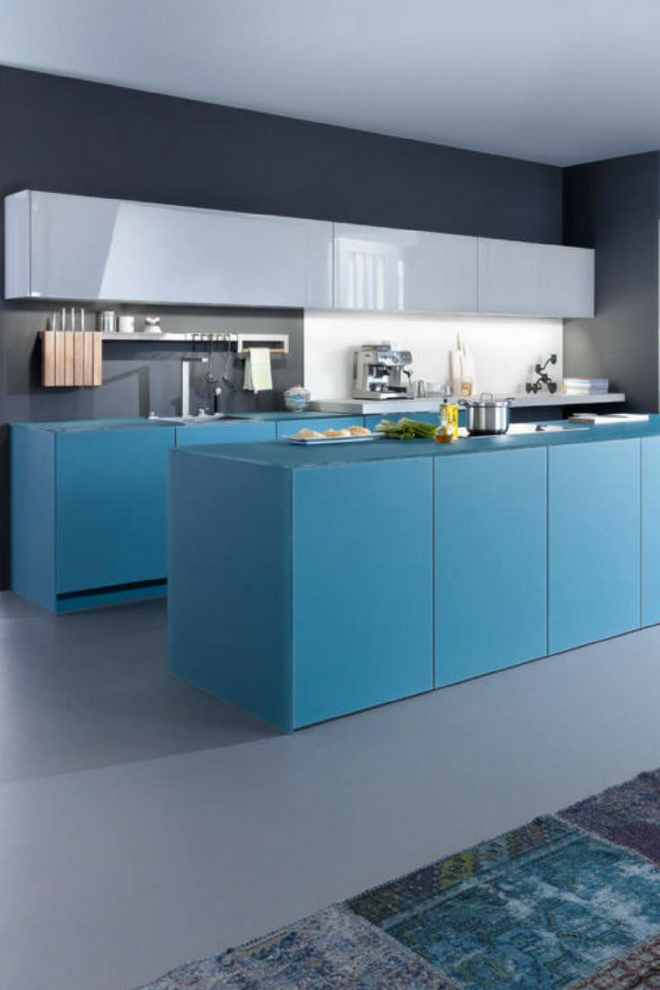 Farbgestaltung der Küche: Bilder und Ideen für farbige Küchen ...