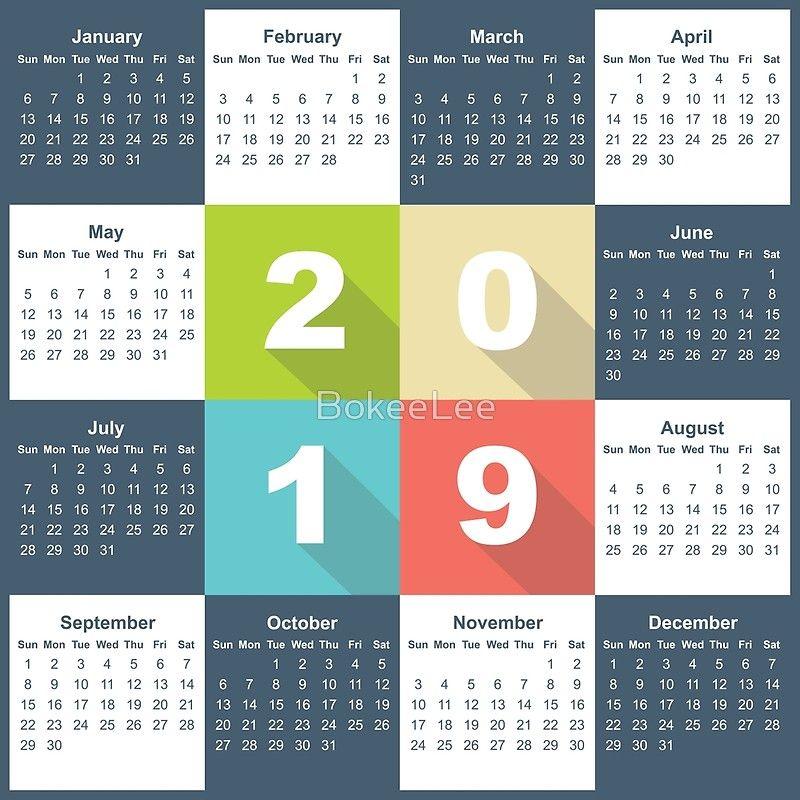 Calendar 2019\u0027 Poster by BokeeLee Calendar 2019 Pinterest Calendar