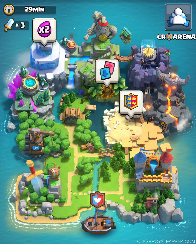 Clash Royale Clan Wars Map Clash Royale Map Games Game Design
