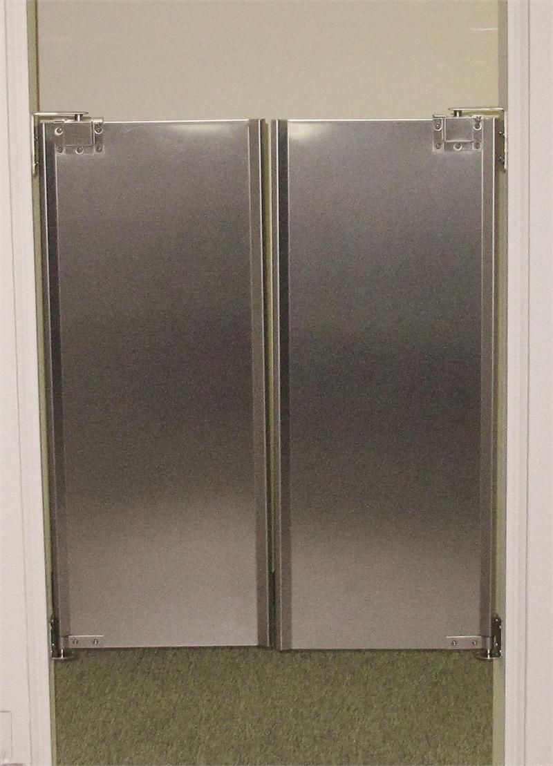 Stainless Steel Cafe Swinging Doors Half Size For Restaurant Kitchen In Stock Double Swing