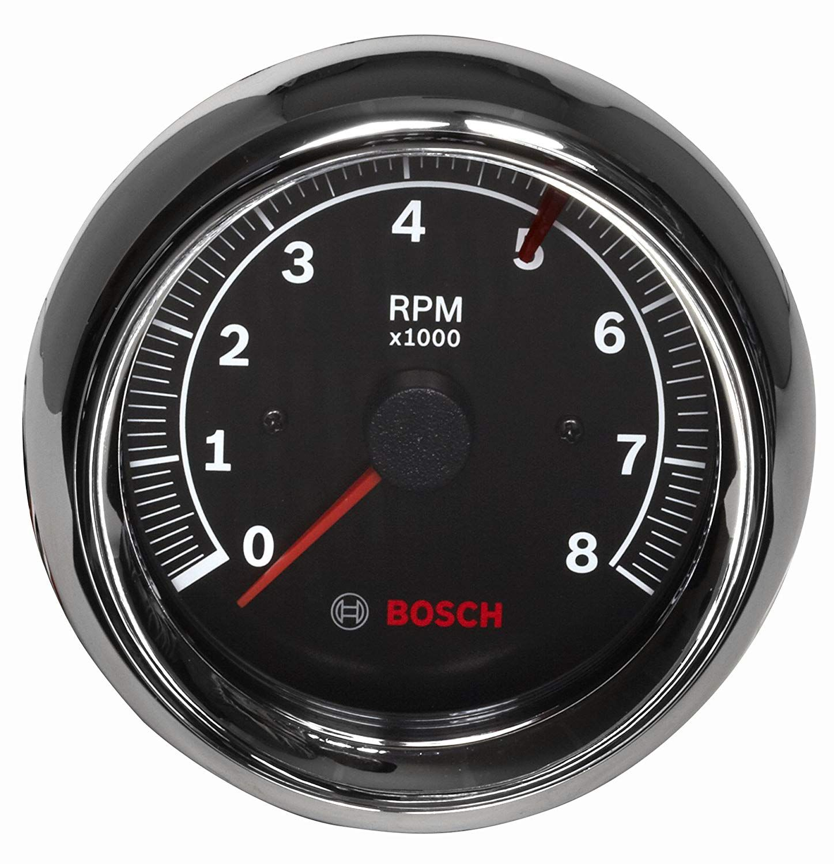 Bosch Sp0f000018 Sport Ii 3 8 U0026quot  Tachometer  Black Dial