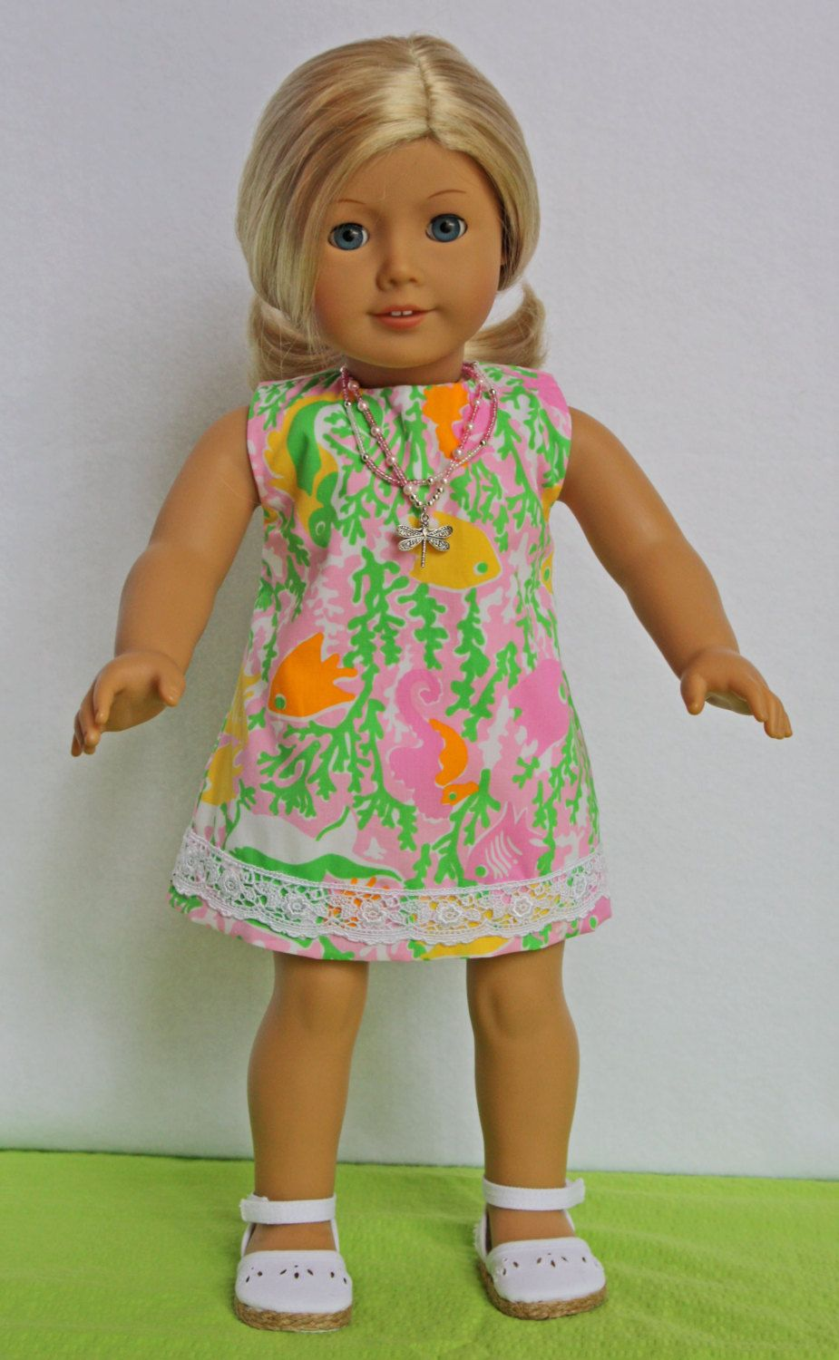 Lilly Pulitzer American Girl Doll Dress Pink By