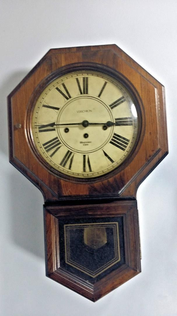 Verichron Westminster Chime Wall Clock Regulator Schoolhouse Clock