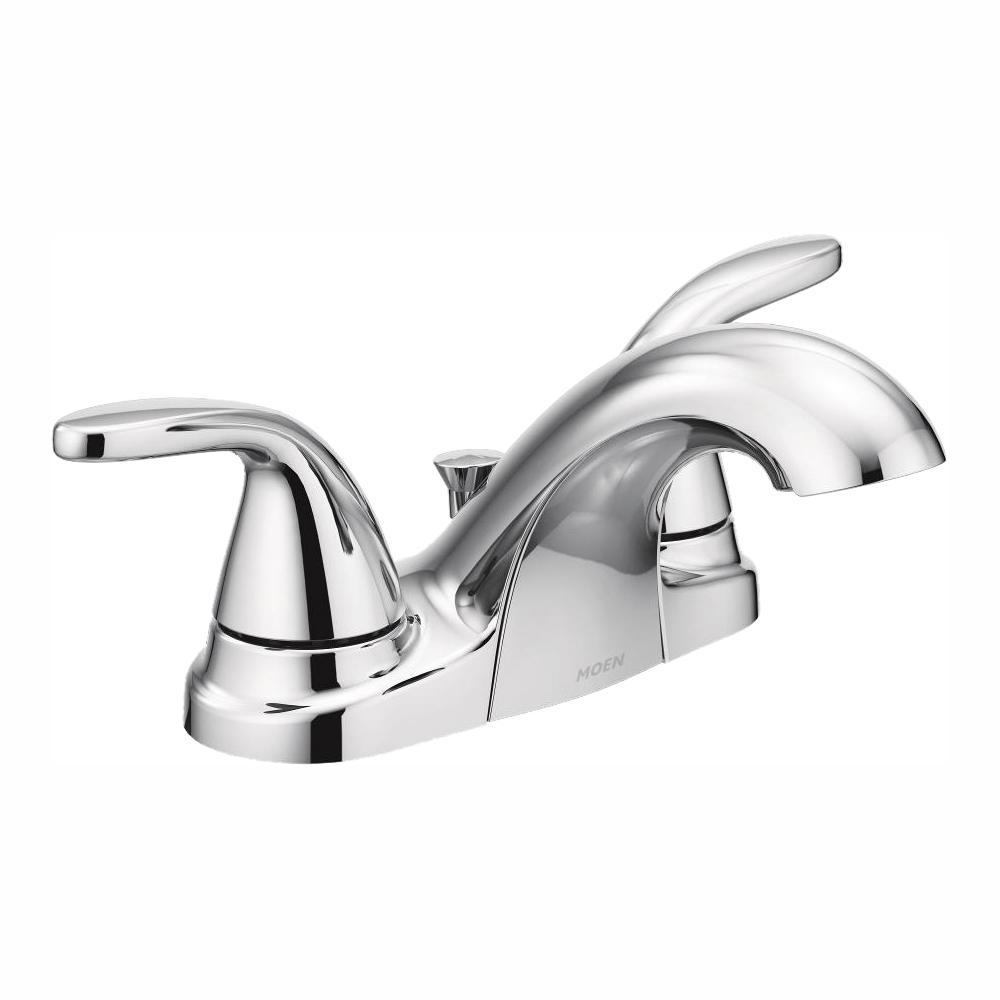 Moen Adler 4 In Centerset 2 Handle Bathroom Faucet In Chrome