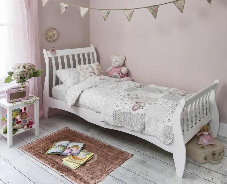 Bed For Teenager single white sleigh wooden bed girls princess vintage new bed