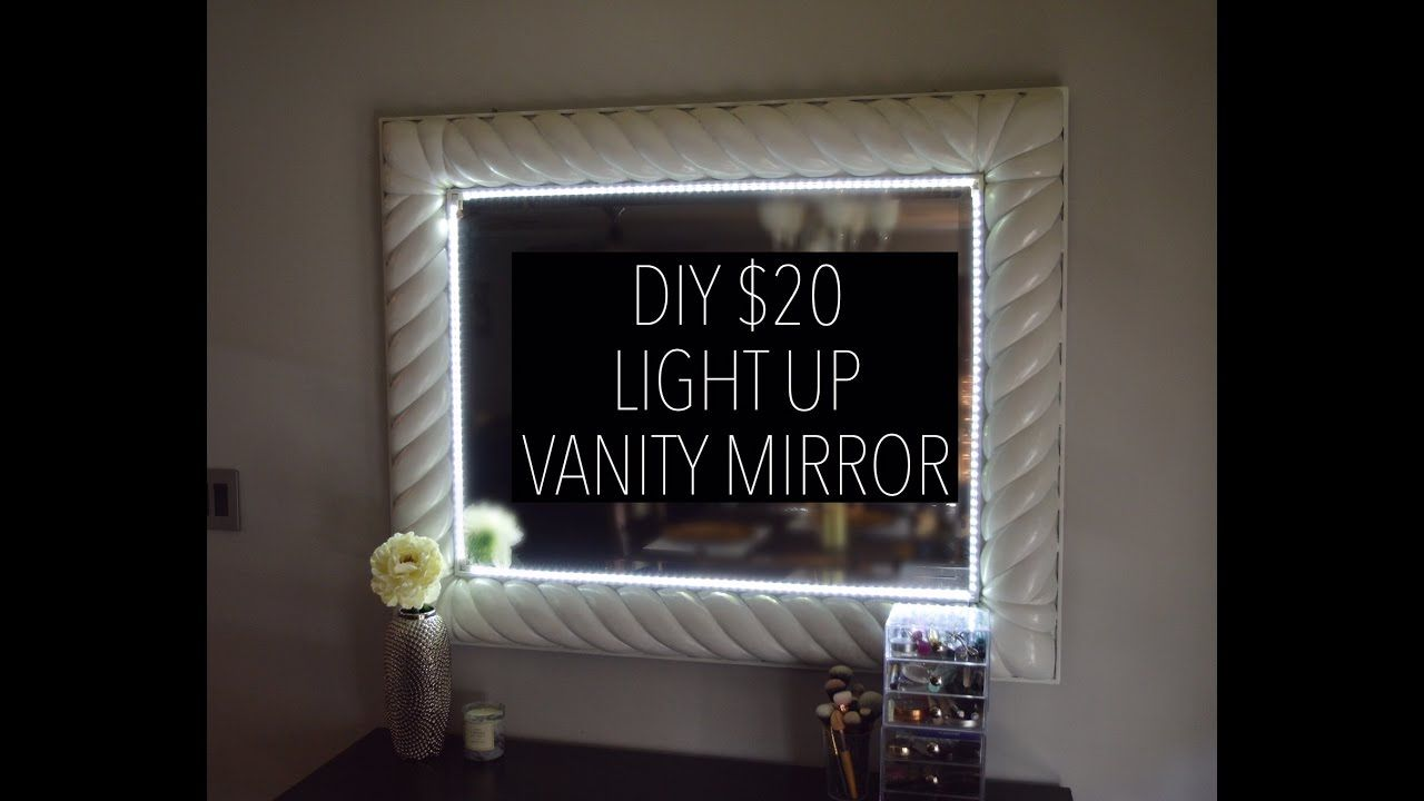 Diy Light Up Vanity Mirror For 20 With Remote Youtube