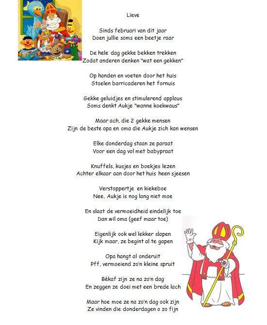Sinterklaasgedichten 2 Voor Opa En Oma En Baby