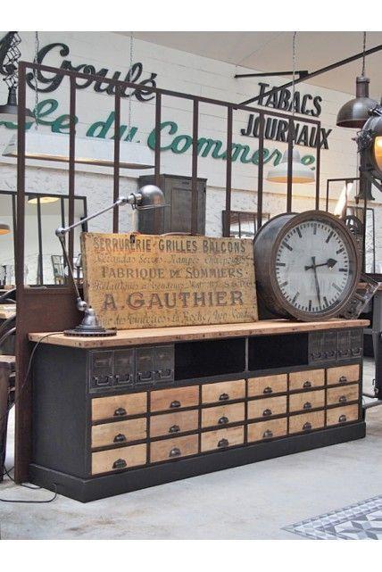 Meuble De Garagiste Vers 1940 Meuble Garage Deco Salon Industriel Meuble De Metier