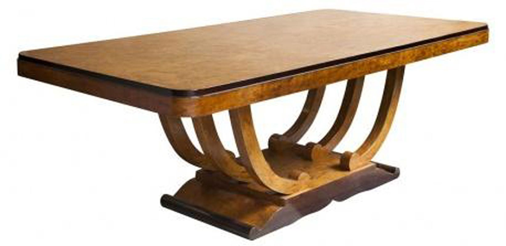 Art Deco Dining Table French Art Deco Burlwood U Base Dining Table For Ten