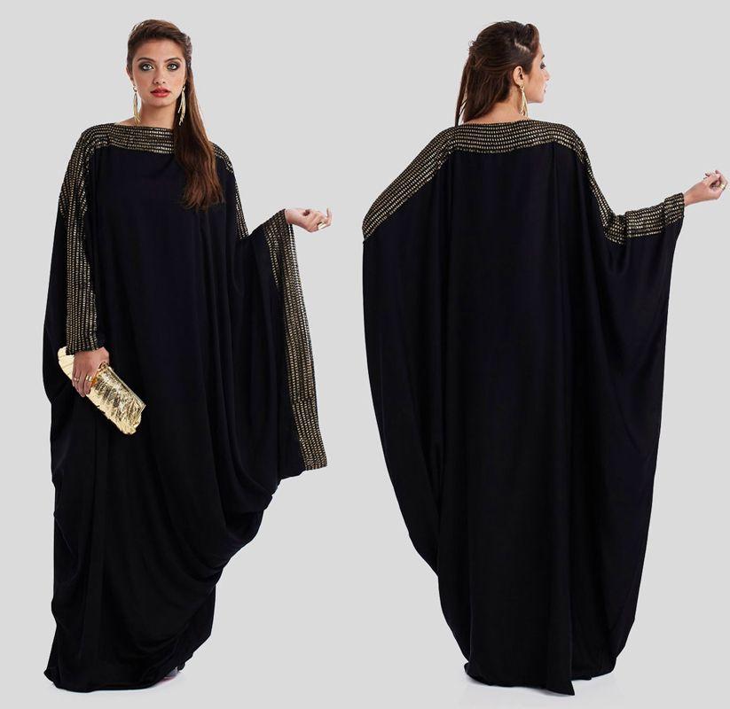 2015 Women Muslim Black Abaya In Dubai Latest Arab Ladies -5486