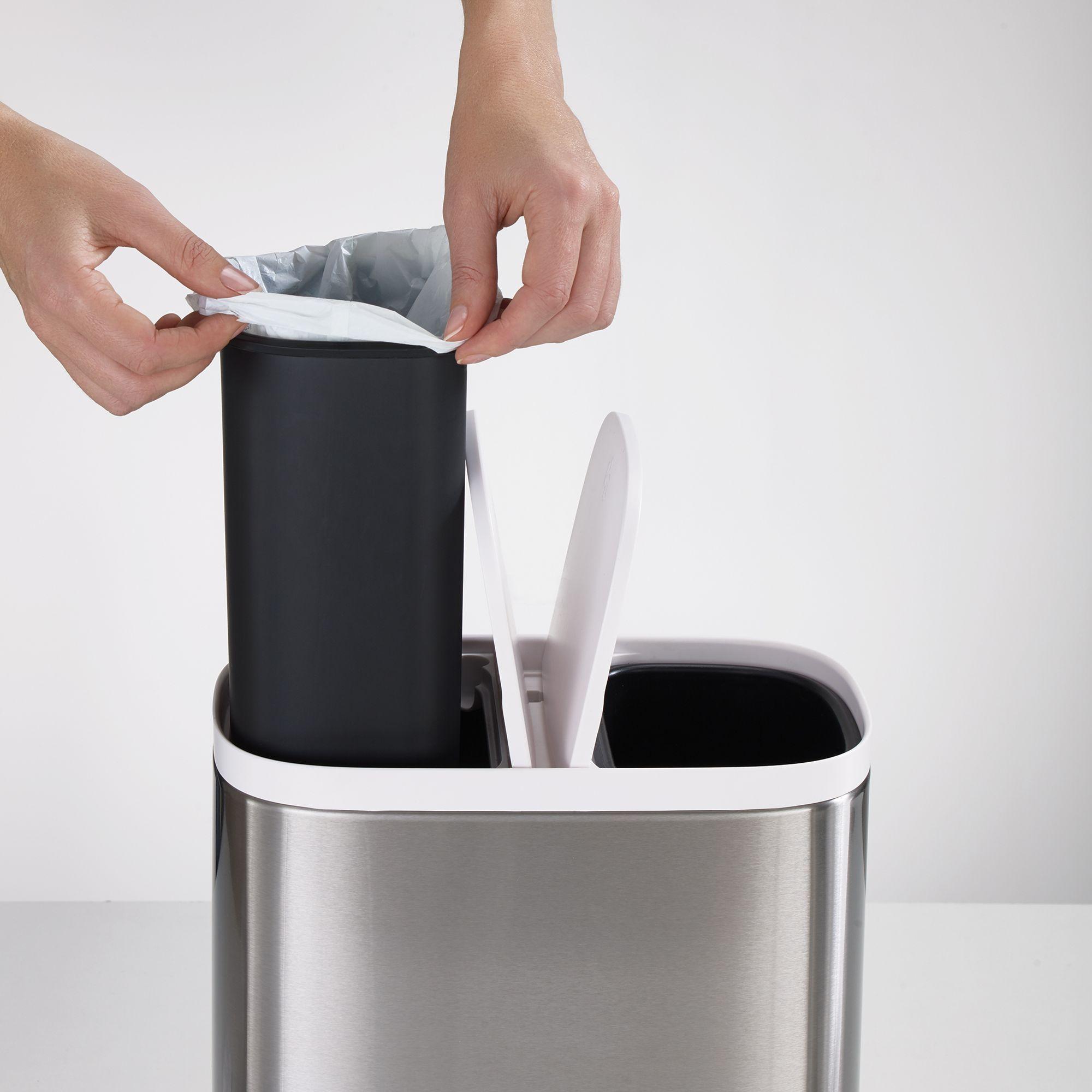 Joseph Joseph Split Recycler Bin Steel Joseph Joseph Recycler Recycling Bins