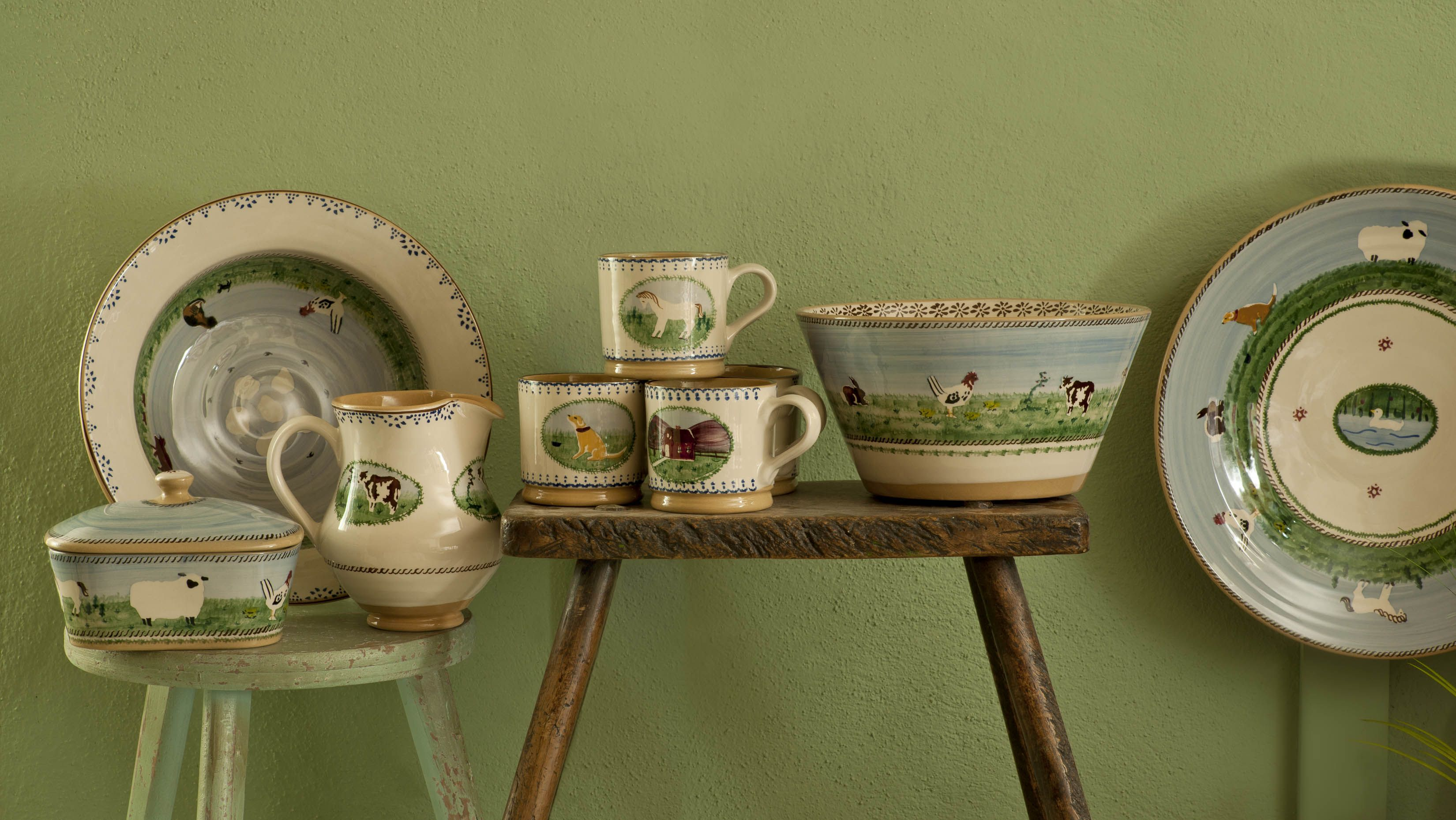 Our Landscape/ Assorted Animals range at Nicholas Mosse Pottery