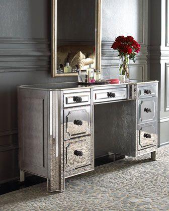 Best 25 mirror vanity ideas on pinterest makeup storage mirror diy makeup light mirror and - Diy mirrored vanity table ...