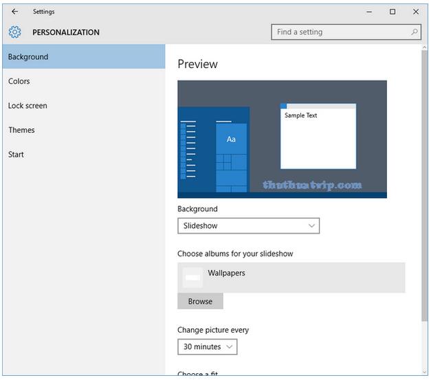 Tự động Thay đổi Hinh Nền Tren Windows 10 Change Picture Wallpaper Windows 10