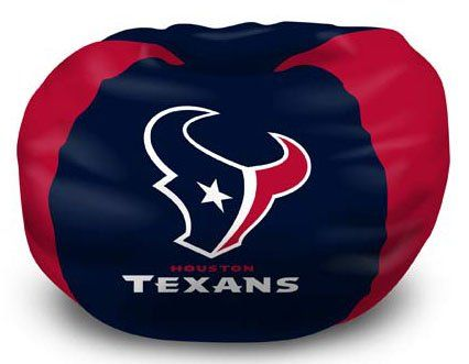 Lounge around during the big game while showing off your team spirit in this Northwest NFL® team Bean Bag Chair. The officially licensed chair has a comfortable 100% cotton shell and a soft virgin polystyrene bed fill for a perfect front row seat! The dyed panels match your favorite team's primary colors and a stylish team logo is proudly featured in the center.