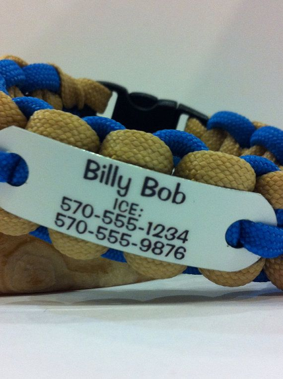 Paracord Bracelet For Kids Personalized In Case Of