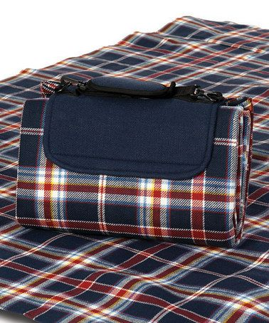 Nautical Navy Waterproof Mega Mat Picnic Blanket