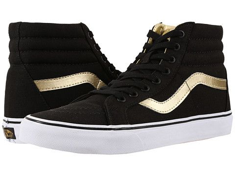 ee997015a4 Vans SK8-Hi Reissue (50th) Black Gold - Zappos.com Free Shipping BOTH Ways