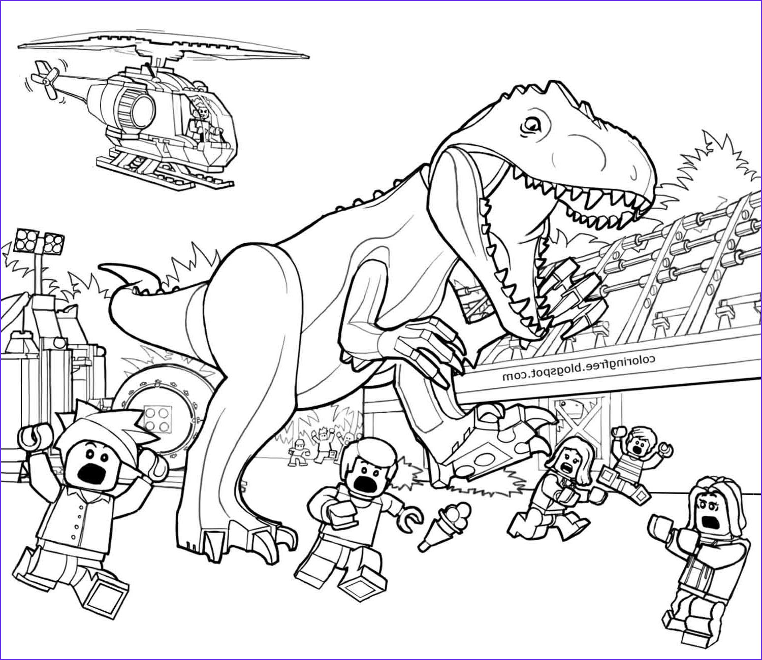 45 Cool Images Of Jurassic World Coloring Pages Coloring
