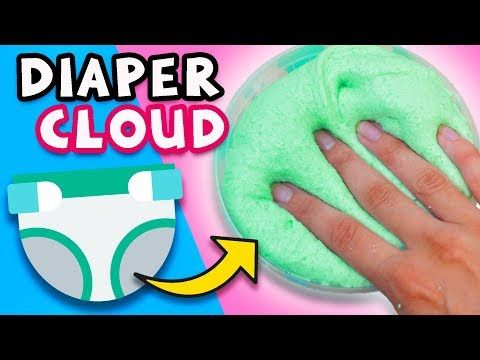 ☁ how to make cloud slime from a diaper! the best fluffy slimehow to make cloud slime from a diaper! the best fluffy slime recipe