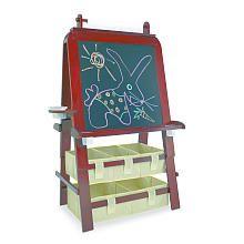 Imaginarium Master Studio Easel Espresso Kids Art Easel