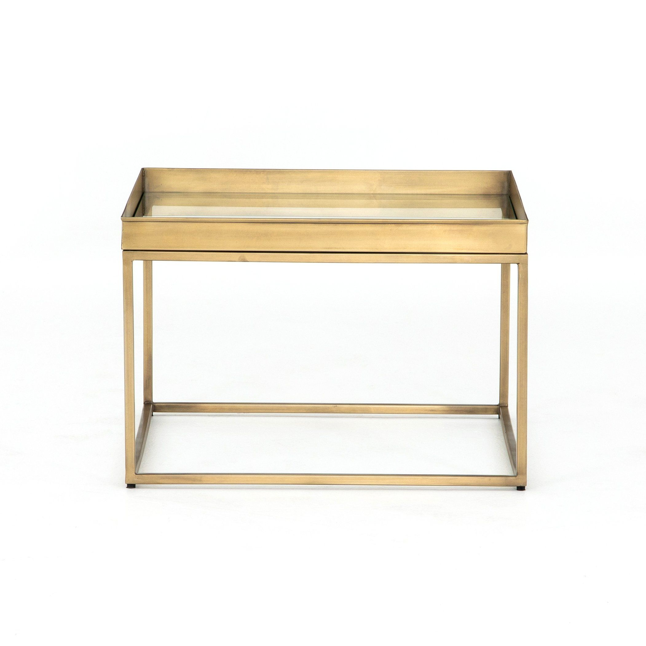 Kline Bunching Table Mirrored Side Tables Table Side Table Wood [ 2102 x 2102 Pixel ]