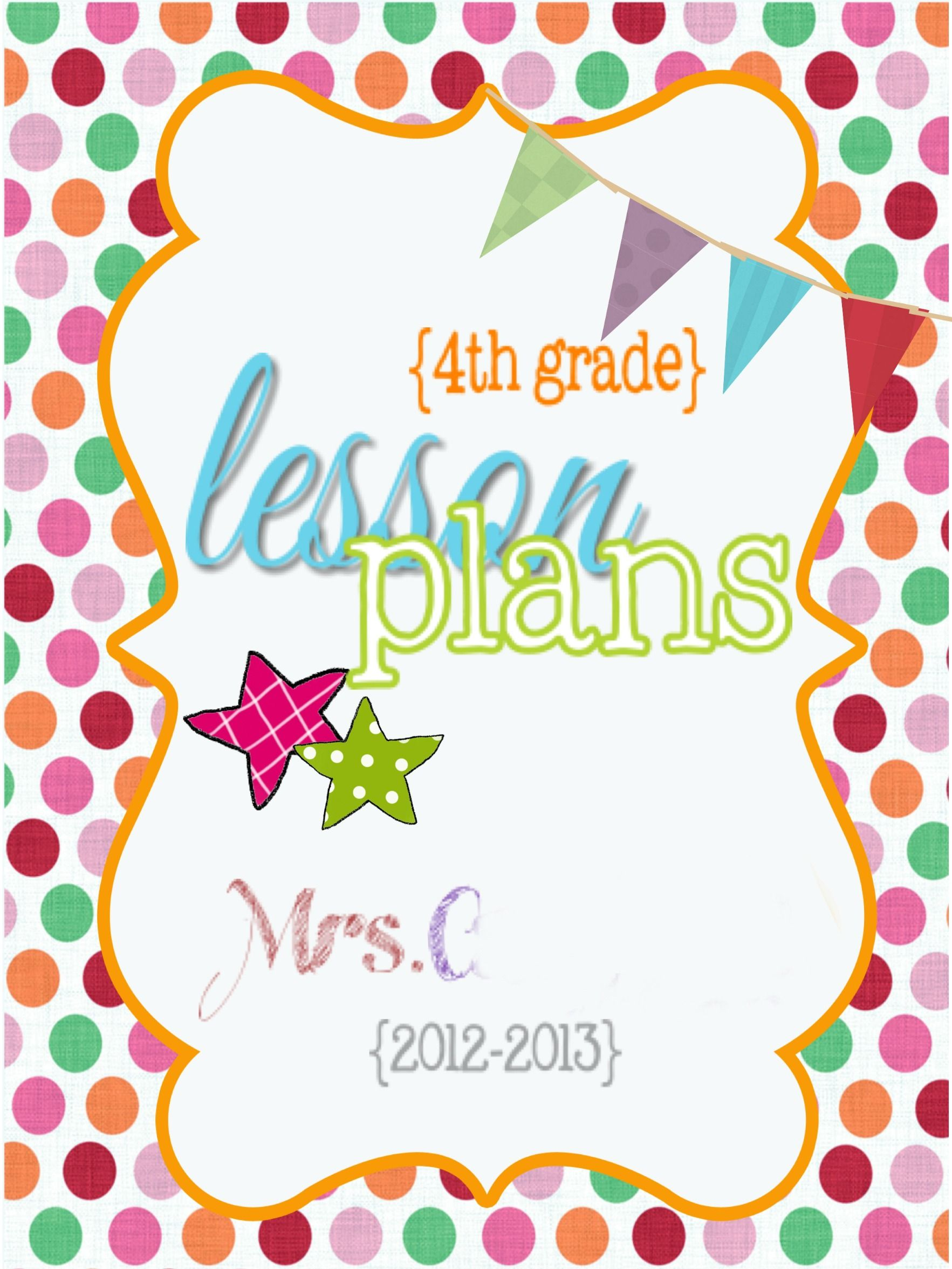 4th Lesson Plan Binder Cover