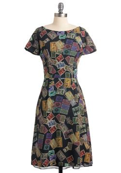 Postage Stamp Affection Dress