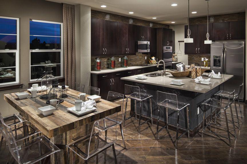 Ryland homes 39 scene 39 model at candelas kitchen featuring for Model home kitchens