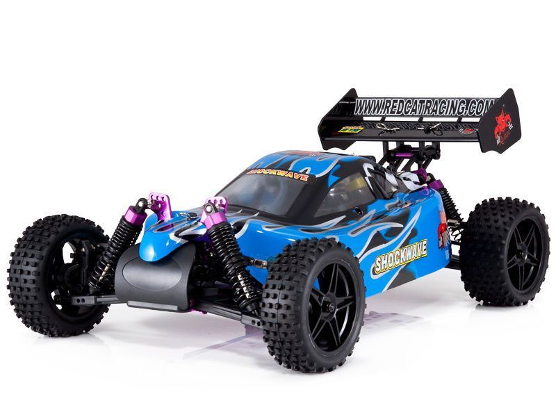 Redcat Racing Shockwave Nitro Buggy Blue 1 10 Scale Con