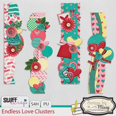 Endless Love Clusters By Scraps by Missy