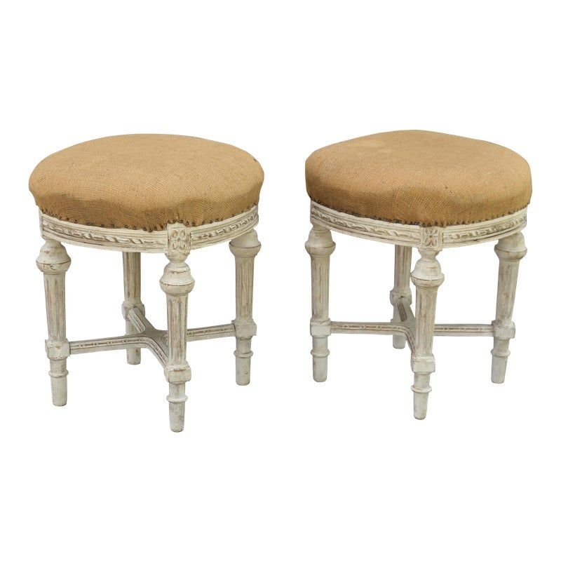 Awe Inspiring French Louis Xvi Style Stools Pair Products In 2019 Caraccident5 Cool Chair Designs And Ideas Caraccident5Info