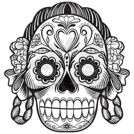 Day Of The Dead Girl Button Mini By Arizonadailystar Skull