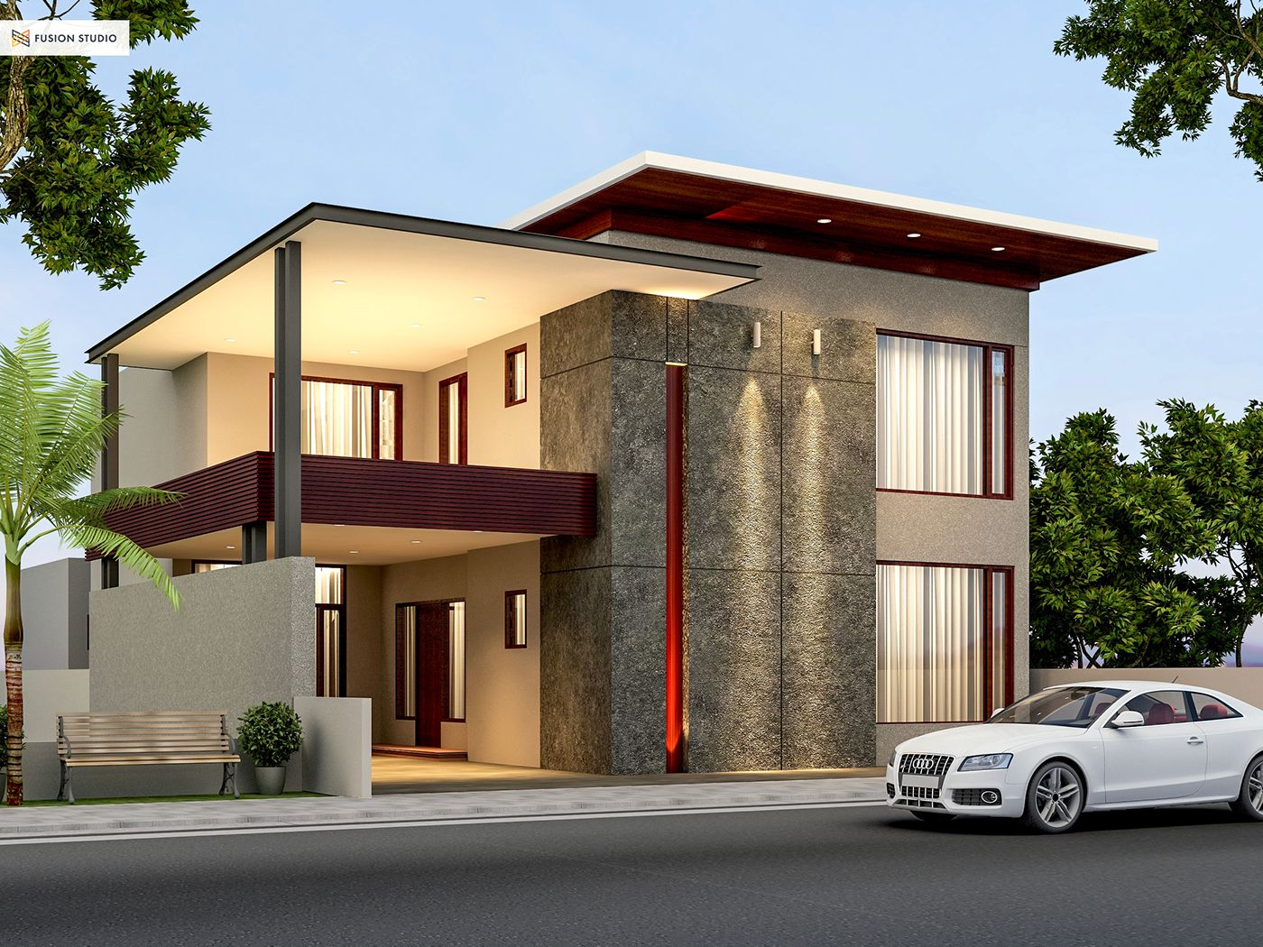 500 Yards House Elevation on Behance | DISEÑOS CASAS | Pinterest ...