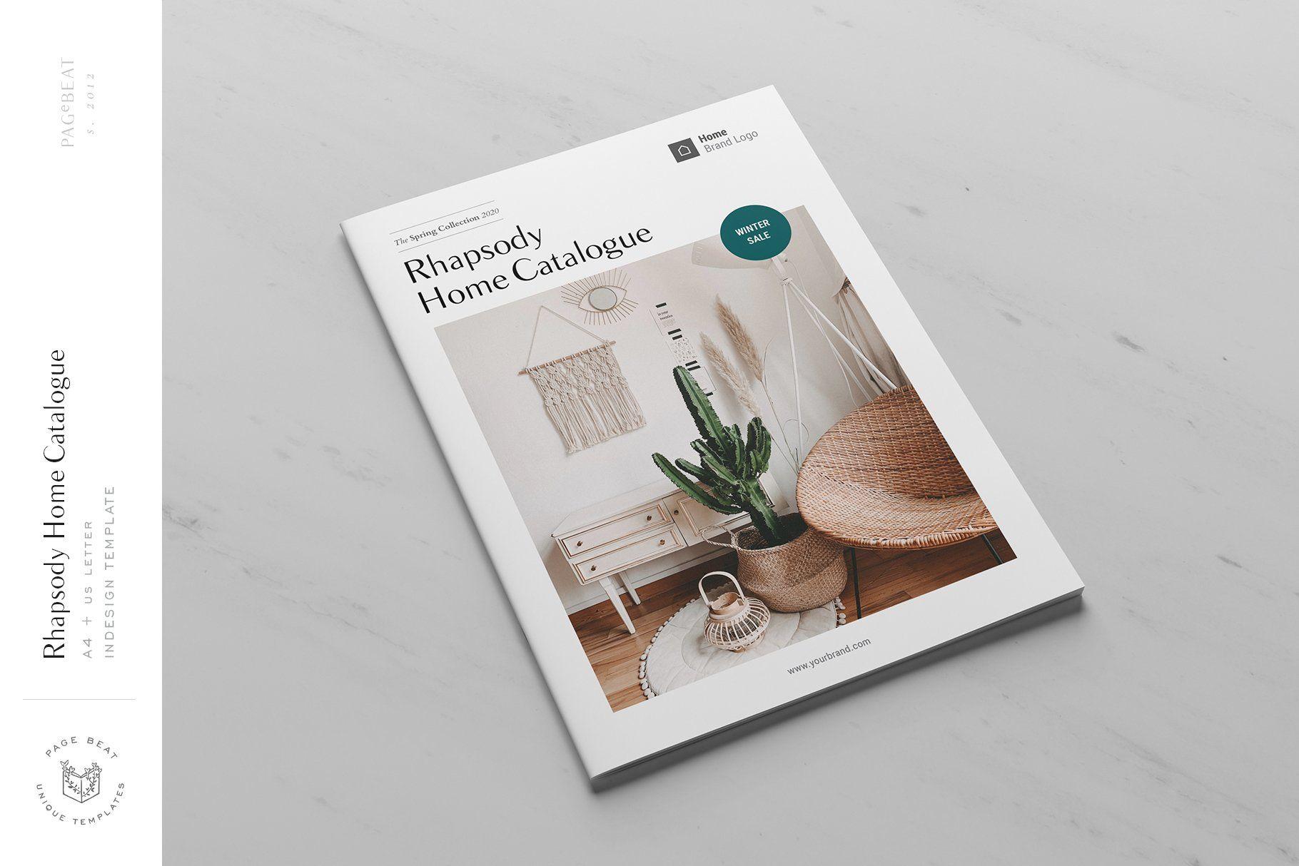 Rhapsody Interior Design Catalog Brochure Template An Adobe