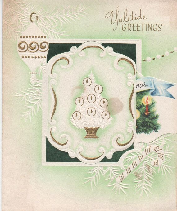 Beautiful Christmas Card from c1950s Yuletide Greetings Christmas
