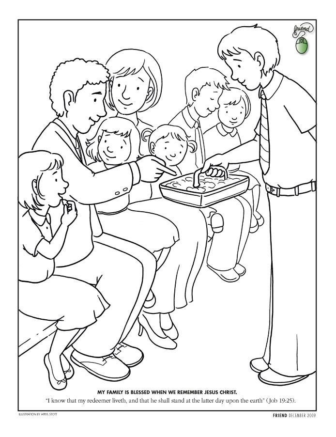 httpldscoloringpagesnet LDS Coloring Pages busy bags